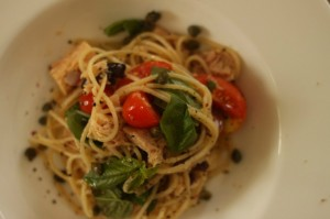 Simple tuna pasta (for one)