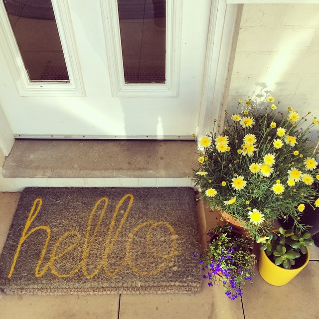 A happy addition to the front door.